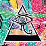 Arte abstracto del ojo de Horus stock de ilustración