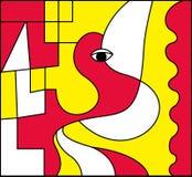 Arte abstracto, ejemplo del vector Fotos de archivo