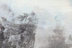 Arte abstrata da pintura chinesa no papel cinzento Fotografia de Stock