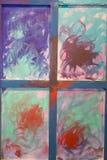 Arte abstrata da pintura: Cursos com testes padrões diferentes da cor - W Imagem de Stock