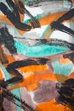 Arte abstrata da pintura: Os cursos com cor diferente modelam o lik Imagens de Stock Royalty Free