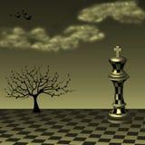 Arte abstrata da xadrez ilustração do vetor