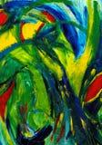 Arte abstrata - mão pintada Fotos de Stock