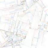 Arte abstrato de blocos de cidade Foto de Stock Royalty Free