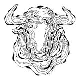 Arte abstrato de Bull Imagem de Stock Royalty Free