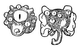 Arte abstrato do monstro Ilustração do Vetor