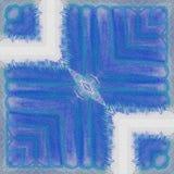 Arte abstrato - o telhado azul ilustração royalty free