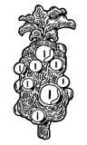 Arte abstrato principal do abacaxi Ilustração Stock