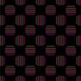 Arte abstrato retro do fundo do vintage geométrico sem emenda do projeto do vetor do teste padrão com linhas horizontais e vertic Foto de Stock