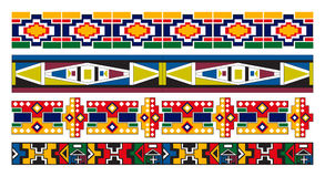 Arte africana del reticolo del bordo di Ndebele Immagine Stock Libera da Diritti