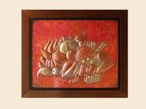 Arte africana em um frame Fotos de Stock Royalty Free