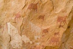 Arte africano de la roca Imagenes de archivo