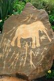 Arte africano neolítico prehistórico de la roca Foto de archivo libre de regalías