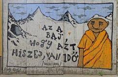 Arte agradável da rua na parede da construção em Eger Imagens de Stock Royalty Free