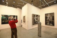 Arte ahora 2011 de Miart Foto de archivo