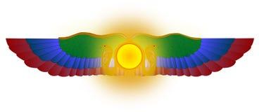 Arte alata di vettore del sole (RA) Immagini Stock