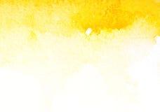 Arte amarillo abstracto de la acuarela Fotografía de archivo