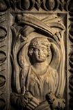 Arte antica del marmo di età sulla parete fotografie stock libere da diritti