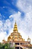 Arte antica tailandese in tempio antico Fotografia Stock Libera da Diritti