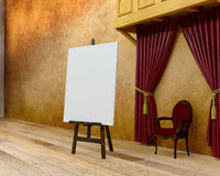 Arte, artista Studio, pintura vazia da lona Imagens de Stock Royalty Free