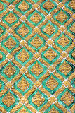 Arte asiático, verde esmeralda y pared de oro Fotografía de archivo