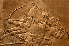 Arte asirio 5 de Acient Fotografía de archivo