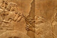 Arte asirio 6 de Acient Fotos de archivo
