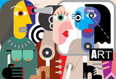 Arte astratta Immagini Stock Libere da Diritti