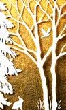 Arte astratta, coniglio ed uccello, primavera Immagine Stock