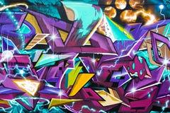 Arte astratta dei graffiti Fotografia Stock Libera da Diritti