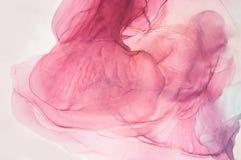 ARTE astratta dell'oceano Lusso naturale Lo stile comprende i turbinii di marmo o delle ondulazioni dell'agata Pittura rossa molt royalty illustrazione gratis
