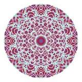 Arte astratta della mandala del cerchio con forma di pendenza Progettazione dell'elemento del fondo di arte della mandala fotografia stock