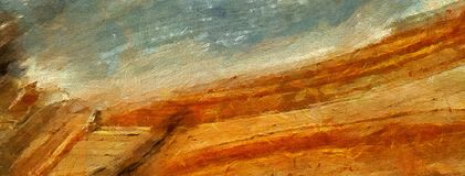 Arte astratta di struttura dell'impressione Bacground luminoso artistico azione Materiale illustrativo della pittura a olio Carta royalty illustrazione gratis