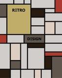 Arte astratta geometrica di pattern de stijl Immagine Stock