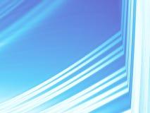 Arte astratta moderna bianca blu di frattale Illustrazione elegante del fondo con le bande brillanti Modello grafico creativo Pro Fotografie Stock