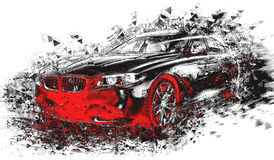 Arte astratta moderna dell'automobile Fotografia Stock