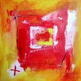 Arte astratta moderna - pittura - priorità bassa Fotografia Stock Libera da Diritti