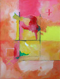 Arte astratta moderna - pittura - priorità bassa Fotografie Stock Libere da Diritti