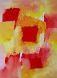 Arte astratta moderna - stile espressivo della pittura Fotografie Stock