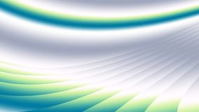 Arte astratta moderna verde blu grigia di frattale Illustrazione dinamica del fondo con le curve ed il modello brillanti di pende Immagini Stock