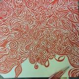 Arte astratta a penna ed inchiostro disegnata a mano del disegno fotografie stock