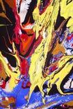 Arte astratta unica della vernice Immagine Stock
