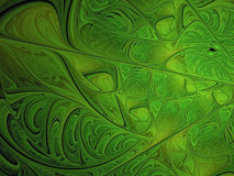 Arte astratta verde di frattale Fotografia Stock Libera da Diritti