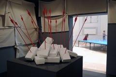 Arte Biennale ArtMosSphere della via II a Mosca Immagine Stock