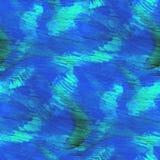 Arte blu arancio dell'acquerello dell'ornamento del fondo Immagine Stock