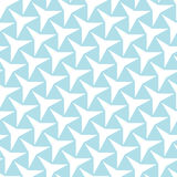 Arte blu-chiaro di deco della geometria astratta un motivo a stelle di tre punti Immagini Stock