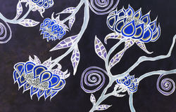 Arte boêmia da flor da aquarela Imagens de Stock Royalty Free