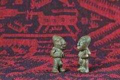 Arte boliviana del tessuto Fotografie Stock Libere da Diritti