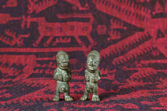 Arte boliviana del tessuto Fotografie Stock