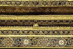 Arte budista da arquitetura de Tailândia Banguecoque do templo foto de stock royalty free